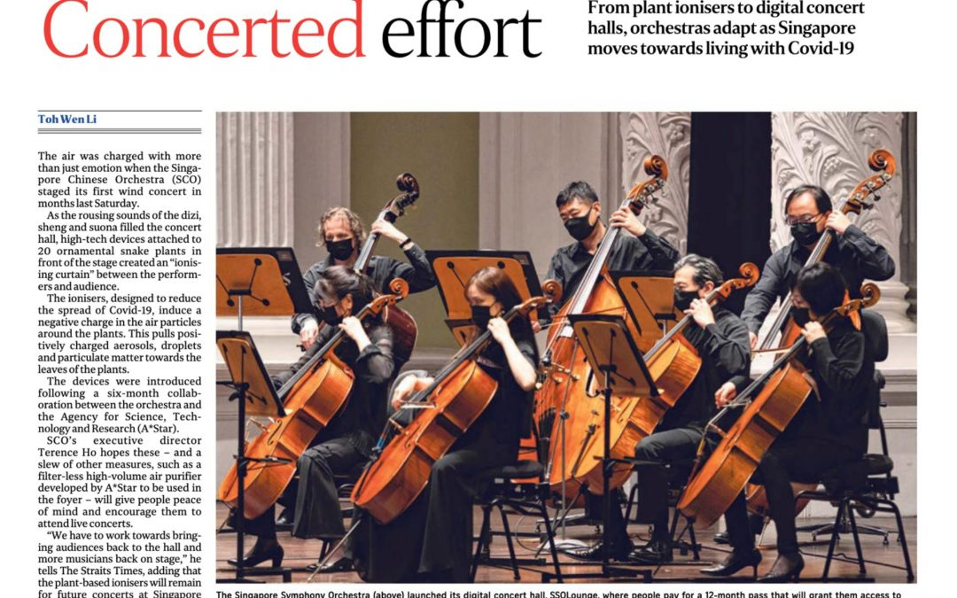 From Ionisers To Digital Concert Halls, Singapore Orchestras Adapt To The Covid-19 Normal by The Straits Times